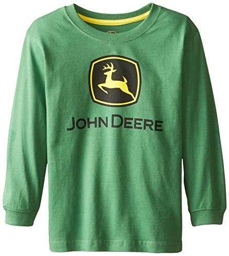 - John Deere Little Boys Long Sleeve Logo Tee, Green, 6