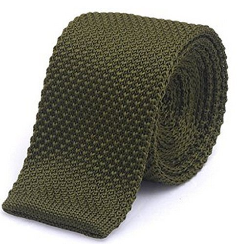 amp;C®High Olive Men's Tie Knitted Woven Knit Tie Skinny Fashion L Quality Seller UK Slim 4Oxf4d