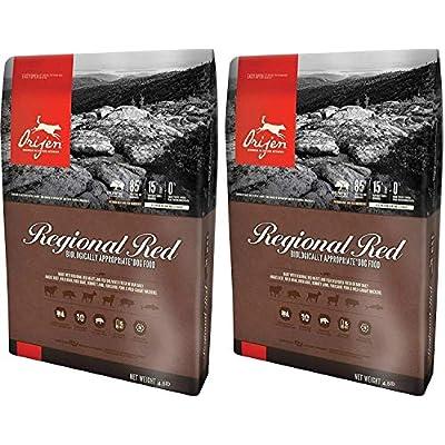 Orijen (2 Pack) Regional Red Dry Dog Food. 4.5 Lbs. Per Bag