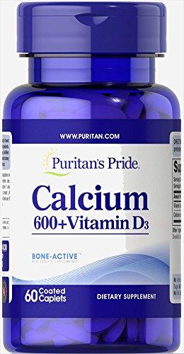 Puritan's Pride Calcium Carbonate 600 mg + Vitamin D 125 IU-60 Caplets Review