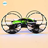 Fanala JJRC H3 2.4G 4CH 6 Axis Air-Ground Amphibious 4 Wheels LED Lights Gyro Drone Airphibian RC Quadcopter With 2MP Camera