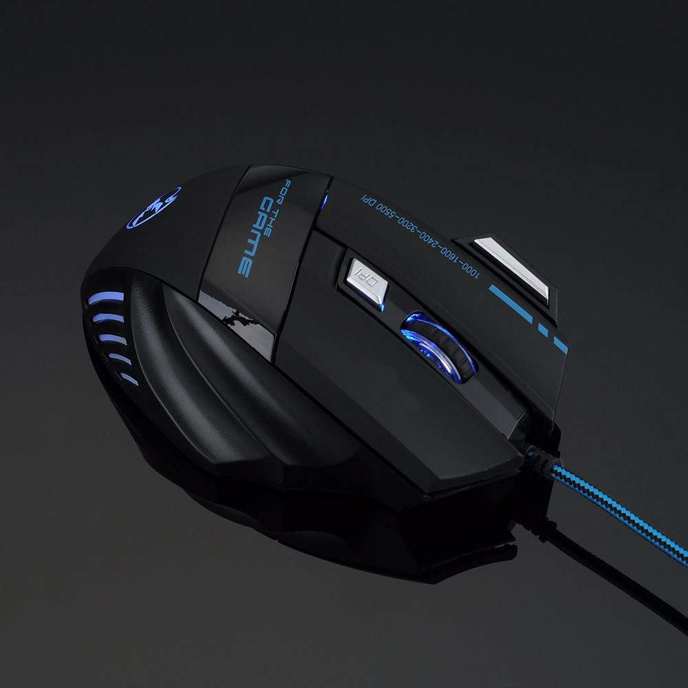 AGPtek 2400DPI 6D Buttons USB Wired Gaming Mouse Mice LED Optical For PC Laptop