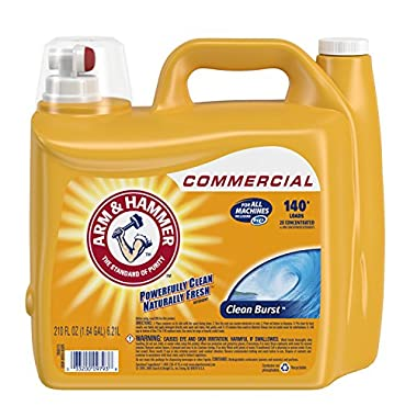 Arm & Hammer 3320000106 210oz Dual HE Clean-Burst Liquid Laundry Detergent Pack of 2