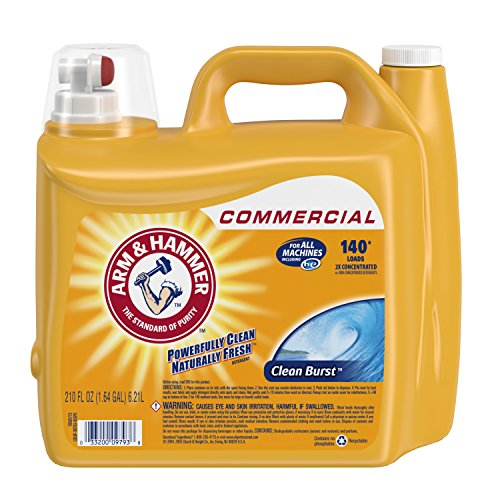 Arm & Hammer 33200-00106 Dual HE Liquid Laundry Detergent Clean Burst 210 oz (Pack of 2) ()