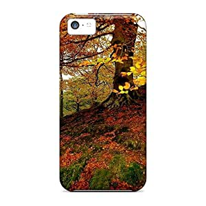 Iphone 5c YCq11062GsuK Autumnal Forest Tpu Silicone Gel Case Cover. Fits Iphone 5c