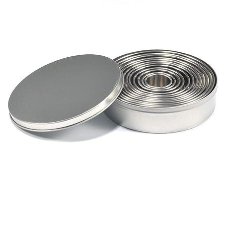 Amazon.com: 12 piezas redonda de acero inoxidable cortador ...