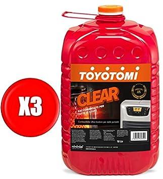 Toyotomi Clear Combustible Universal Ultra INODORE para estufas portátil: Amazon.es: Bricolaje y herramientas