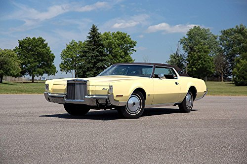 Lincoln Continental Mark IV (1972) Car Print on 10 Mil Archival Satin Paper Light Yellow Front Side Static View (24