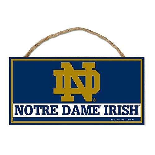 WinCraft NCAA Notre Dame Fighting Irish Hardboard Wood Signs with Rope, 5 x 10-Inch, Multi (Fighting Ncaa Cut Irish Precision)