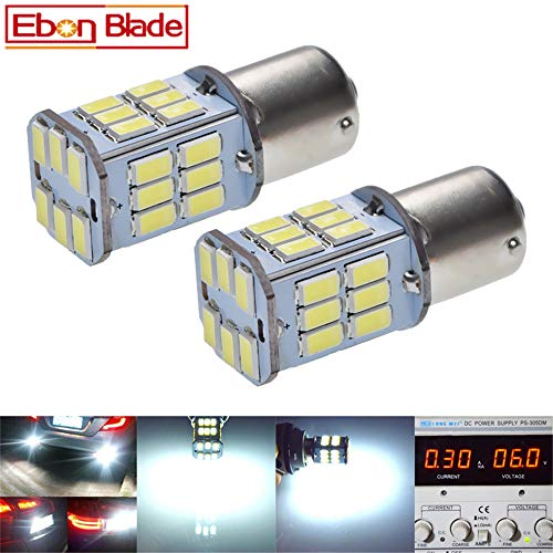 Pair 1157 BAY15D P21/5W LED Car Bulbs 5630 30SMD Auto Tail Rear Brake Stop Parking Light Turn Signal DRL Lamps White Red Amber 6V DC (White, 6V DC)