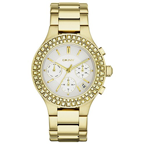 - DKNY Chambers Gold-Tone Stainless Steel Chronograph Women's Watch #NY2259