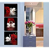 Amazon Price History for:Amoy Art -3 Panels Beautiful Romantic Swans Art Print on Canvas Red Rose Flowers Wall Art Decor Stretched Frames for Bedroom Bathroom Ready to Hang