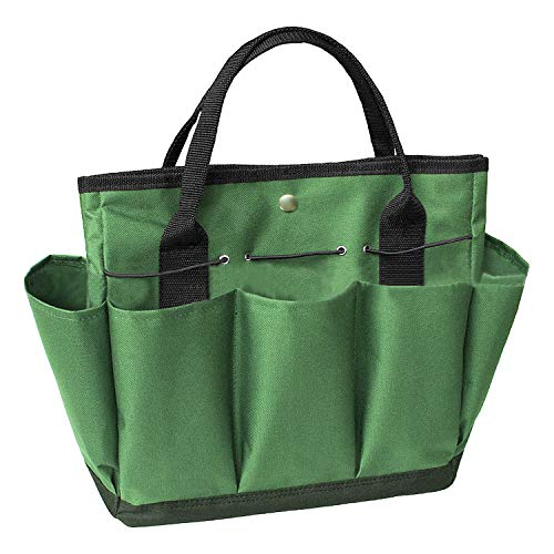 JINTN Portable Garden Tool Bag Oxford Plant Tool Kit Storage Bag with Handles Essential Gardening Tools Organizer Tote Multiple Pockets Indoor Out Door Lawn Yard Bag Carrier Gardener Carry Bag by JINTN
