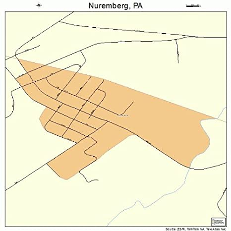 Amazon.com: Large Street & Road Map of Nuremberg, Pennsylvania PA ...