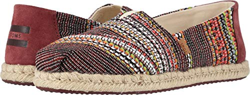 TOMS Women's Alpargata on Rope Cherry Tomato Global Woven 7 B US