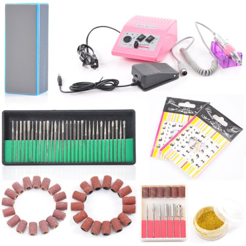 Complete Professional Electric Nail Drill Machine Manicure Pedicure Kit Electric Nail Art File
