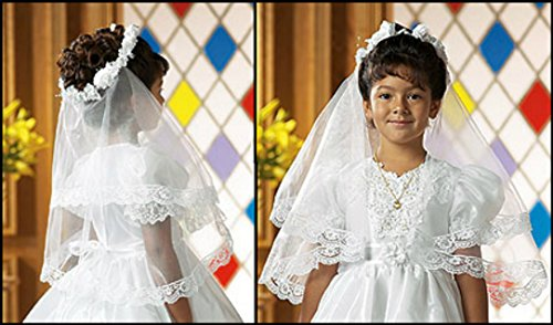 (First Communion Veil with Combs )