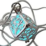 UMBRELLALABORATORY Wishing Necklace, Steampunk Jewelry Box Fairy Magical Glow in The Dark-Blue-Silver 6
