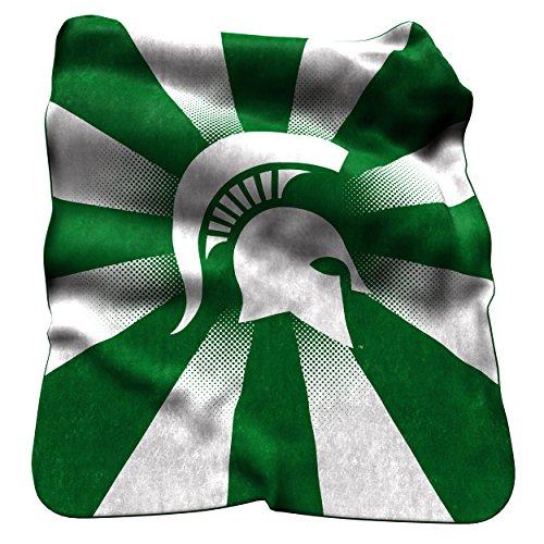 Logo Brands NCAA Michigan State Spartans Raschel Throw Blanket ()