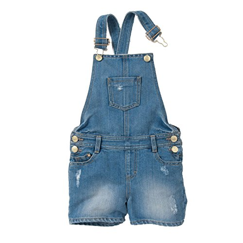 Dungarees 3 (La Redoute Collections Big Girls Denim Dungaree Shorts, 3-12 Yrs Blue Size 10 Years - 54 In.)