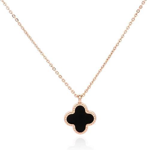 Flower Stud Earrings Crystal Black Clover Lucky Novelty Ladies Girls Gift
