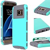 Galaxy S7 Edge Case, E LV Galaxy S7 Edge (SHOCK PROOF DEFENDER) Slim Case Cover **NEW** Full protection from drops and impacts for Samsung Galaxy S7 Edge - [MINT / GREY]