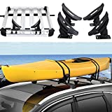 go2buy Kayak Carrier Roof Rack Canoe Boat Surf Ski Roof Top Mounted on Car SUV Crossbar, Load:154 Lb
