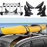 roof rack saddle - go2buy Kayak Carrier Roof Rack Canoe Boat Surf Ski Roof Top Mounted on Car SUV Crossbar, Load:154 Lb
