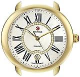 Image of MICHELE Women's MW21B00A9963 Serein 16 Analog Display Swiss Quartz Gold Watch Head