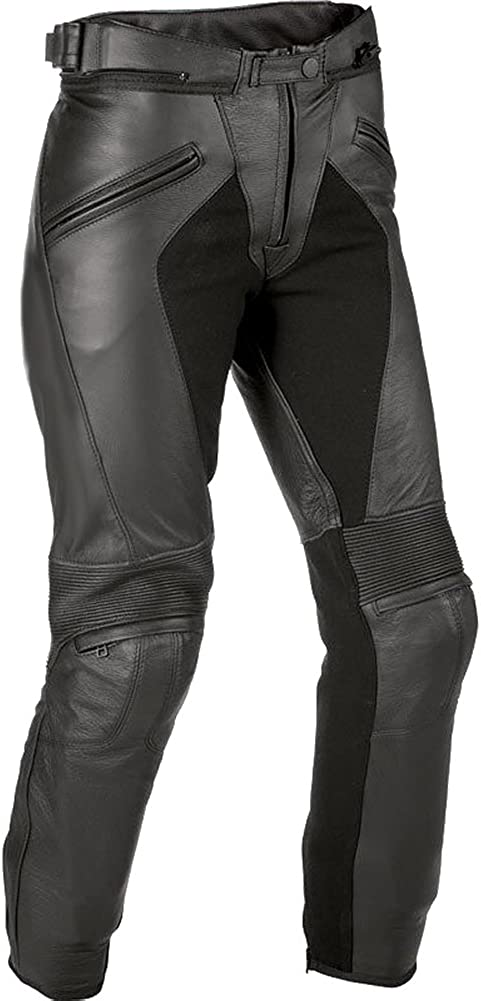 SRHides Mens Fashion Real Leather Motorcycle Pant