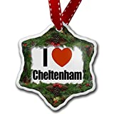 Christmas Ornament I Love Cheltenham, region:al South West England, England - Neonblond