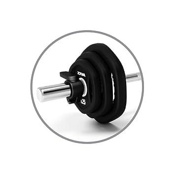 Set de pesas Ziva uretano Aerobic Pump Pesas (20 kg, negro: Amazon.es: Deportes y aire libre