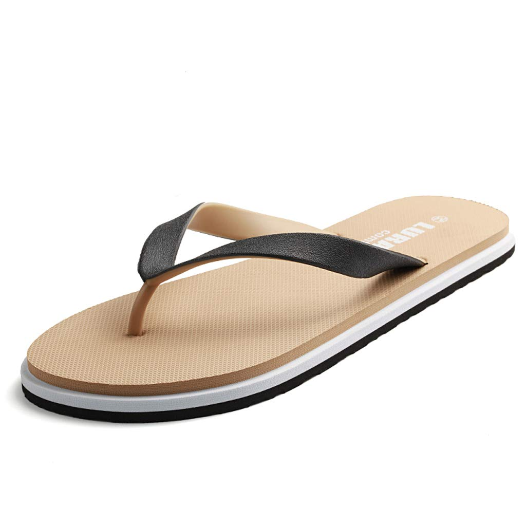Soft Genuine Leather Dual-Purpose Outdoor Big Size Leisure Slipper Mens Fashion Casual Sandals HHF Flat Sandals /& Slippers