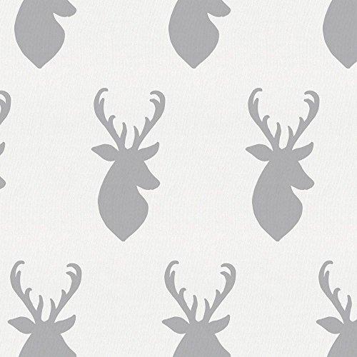 Carousel Designs Silver Gray Deer Head Cradle Sheet