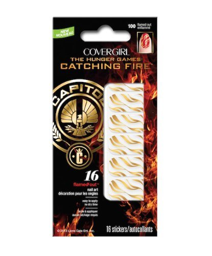 Covergirl The Hunger Games Catching Fire Capitol Collection Nail Art Stickers - 100 Flamed Out