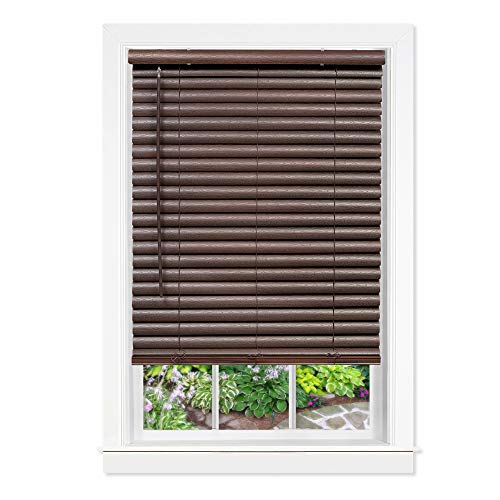 Achim Home Furnishings Cordless GII Luna 2 Vinyl Venetian Blind, 35 x 64, Mahogany