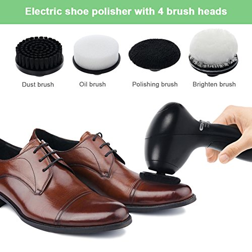 Shantan Electric Shoe Polisher, Shoes scrubber Handheld Brushes Cleaning Brush Kit For Leather Shoes by Shantan (Image #1)
