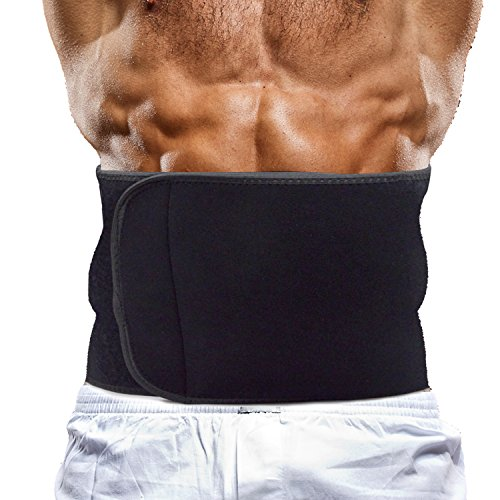 Beyoung(TM) Breathable Elastic Velcro Waist Trimmer Band Guard Protector Compression Straps Sleeve Brace - Stomach Body Wrap & Back Lumbar Support - Adjustable Ab Sauna Belt - Belly Fat Burner Slimmer by Beyoung