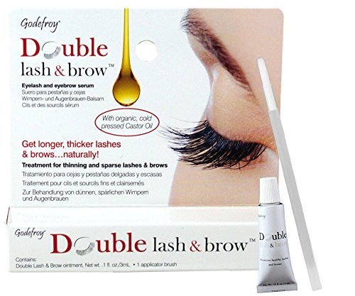 Godefroy Double Lash and Brow Treatment, for longer & thicker eyelash and eyebrows (3ml + applicator) by Godefroy
