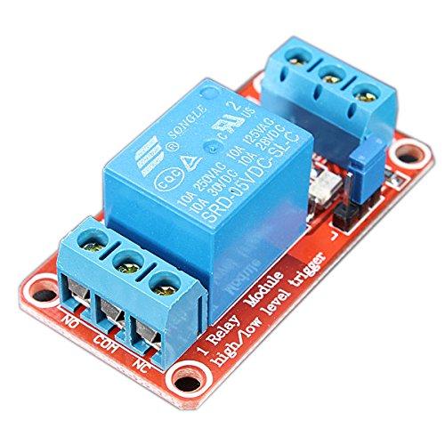 QOJA 5v 1 channel level trigger optocoupler relay module for arduino by QOJA