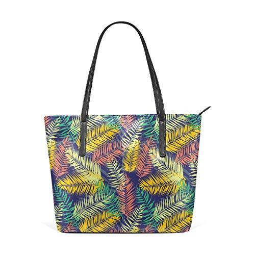 Coosun flachen Stil Palm Blätter Muster PU Leder Schultertasche Handtasche und Handtaschen Tasche für Frauen