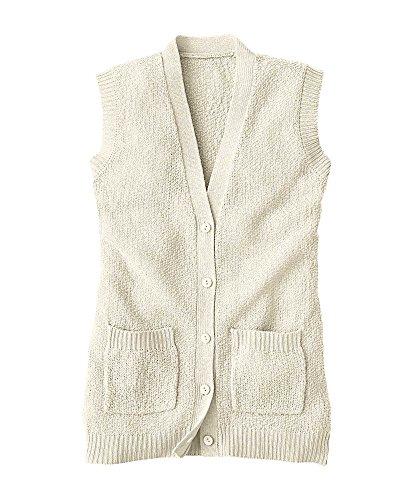 National Scramble Stitch Sweater Vest, Ivory, X-Large