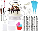 69pcs Cake Decorating Supplies Bundled with 5 Silicon Review and Comparison