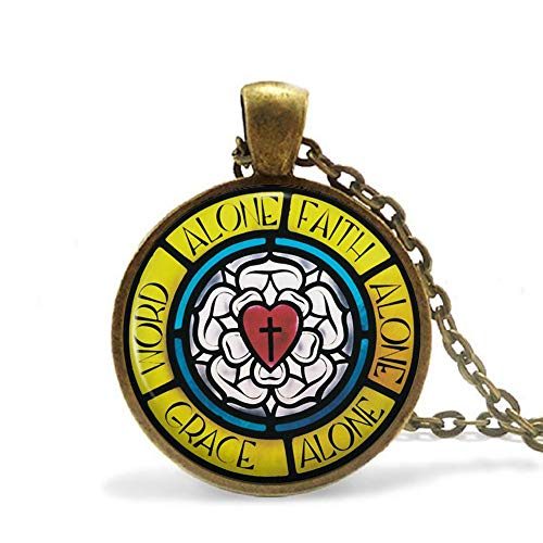 Luther's Rose/Seal Necklace Pendant, Coat of arms Religious Jewellery