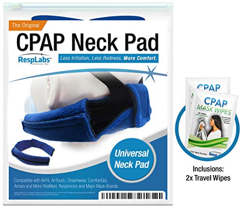 RespLabs CPAP Neck Pad for Headgear Straps - The Original CPAP Neck Pad with Built-in Strap Covers (Original Blackouts Neck)