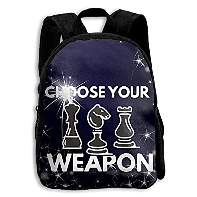 Kids Backpack Choose Your Weapon Chess Gamer Pieces Funny Girls School Bag Multipurpose Daypacks Backpacks