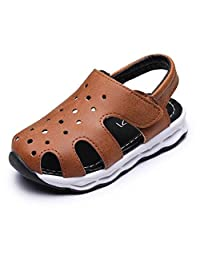 Bumud Boy's Girl's Light-Up Sandals Closed Toe Outdoor Sport Casual Shoes (Toddler / Little Kid)