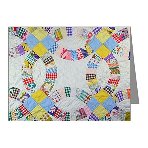 CafePress - Colorful Patchwork Quilt - Blank Note Cards (Pack of 20) Matte (Note Americana Card)