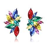 Earings Women Fashion Stone Stud Earrings Elegant Earrings Women Trendy Golden Women Earrings