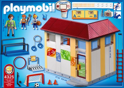 Playmobil school gym playset construction set buy online - Piscina playmobil amazon ...